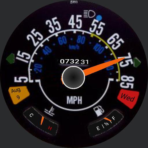 CJ Speedometer MPH