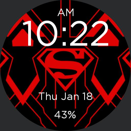 Red/Black Superman Watch Face
