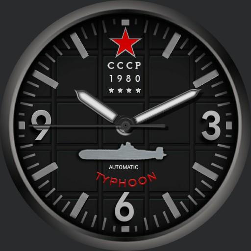 Orilama watch 168 CCCP Typhoon