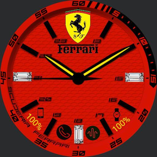 Ferrari red diamond watch