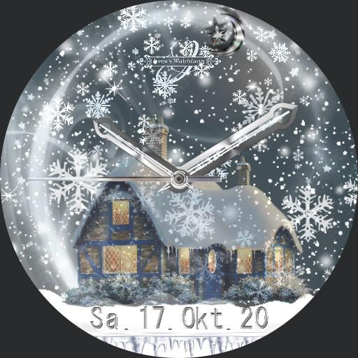 Winterabend 3fach Dim Snow Animation
