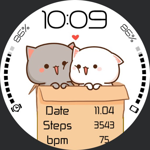 kittens in love animated