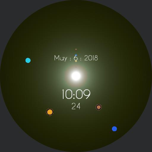Solar System Sun Glare