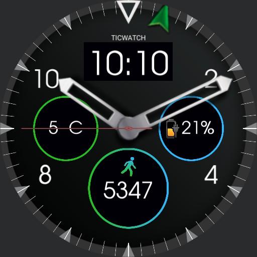 Explorer - Green Blue compas