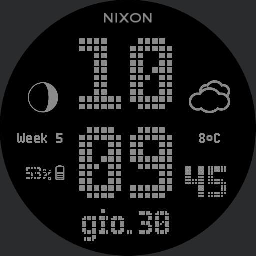 Nixon Newton Digital Custom Grey