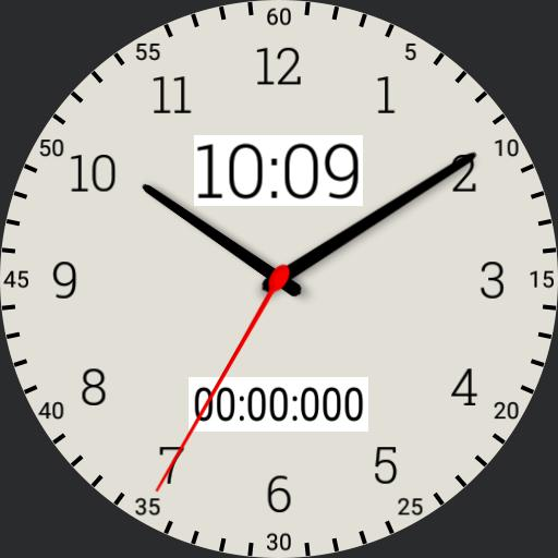 basic white stopwatch