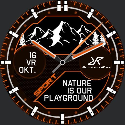 Revolution Race Mountains Orange Copy