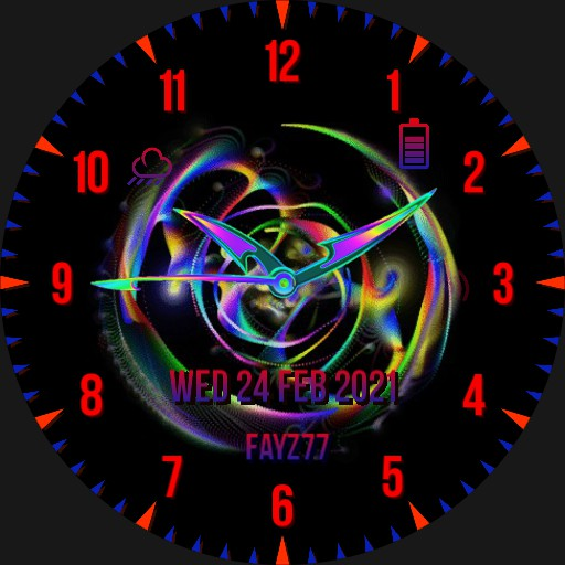rainbow of colours watch face