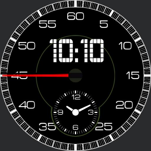 Porsche 911 Carrera S, 2012 dashboard clock.