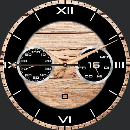 Zebrano Wood Watch