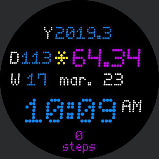 digital decimal sun percentage ando steps