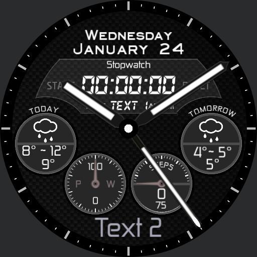 kosiba 4 dials stopwatch dim