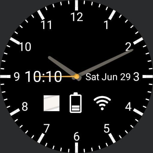 Modern Watchface Black