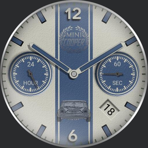 Mini cooper timepiece