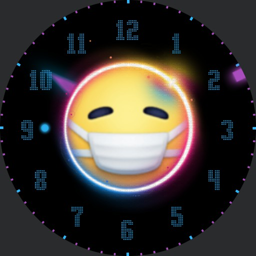 masked emoji watchface
