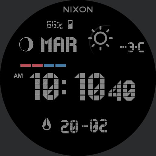 Nixon Super Unit Grey Custom Snow New