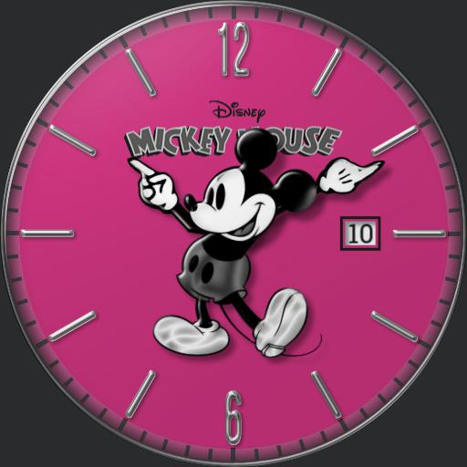 Mickey Mouse hot pink
