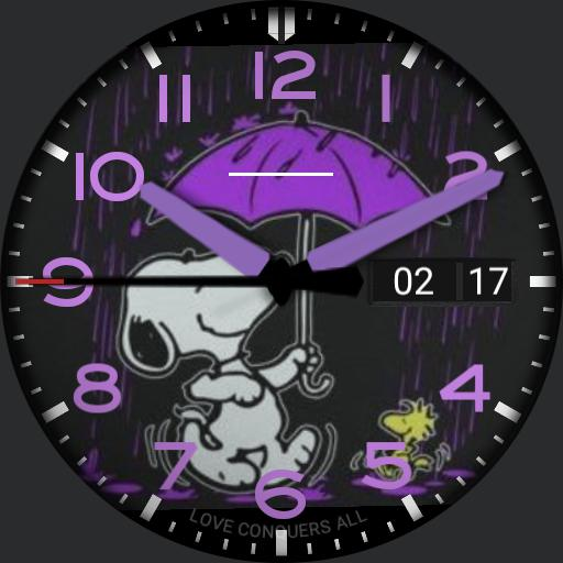 Snoopy Purple Rain