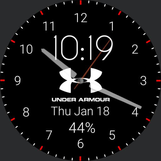 Black Under Armour Watch Face
