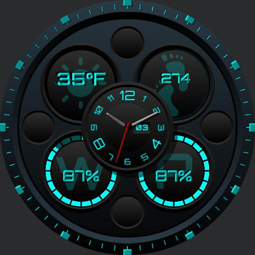 UPDATED Ucolor Weather Digital Black Blue