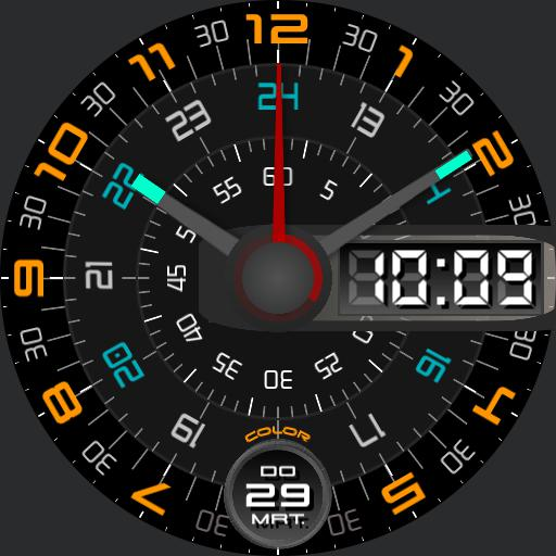 Clock watch design Color changer