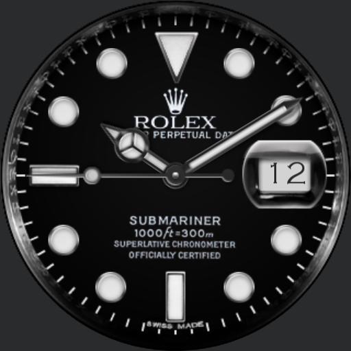 R0lex Black illum sub