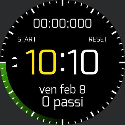 Digital 24hr/stopwatch Enrico