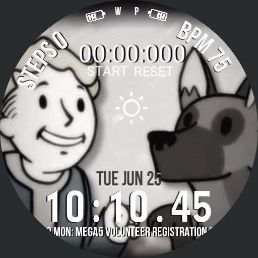 Fallout Vault Boy and Dogmeat Copy