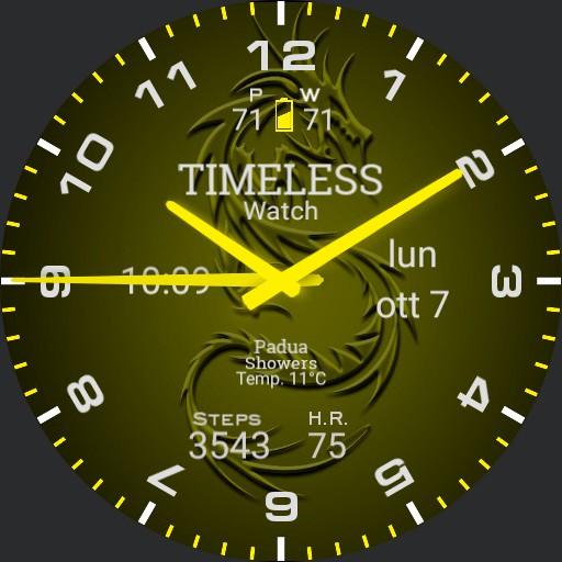 Timeless watch YELLOW
