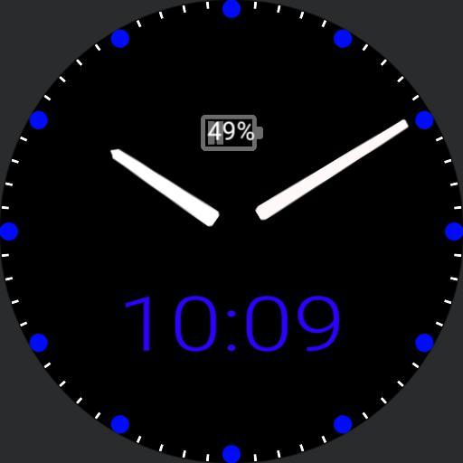 my clock blue