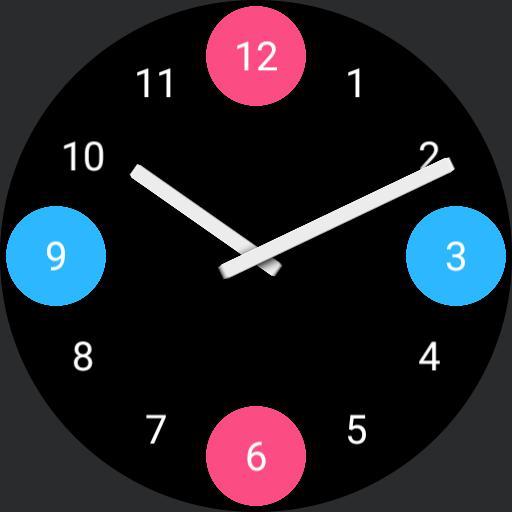 Four balls clock