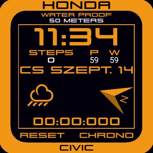 Honda Civic retro watch