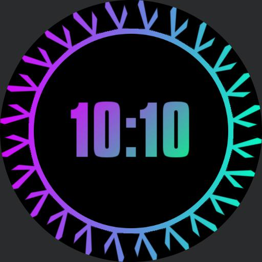 colorful animated watch