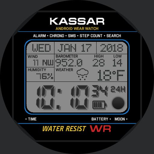 KASSAR Digital w/Weather, original design by Kassar