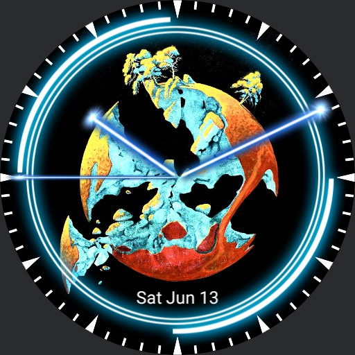 Yes Broken Globe w/date