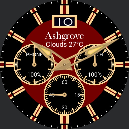 Chrono style with weather and battery levels  V2