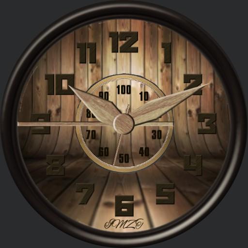Holz Uhr