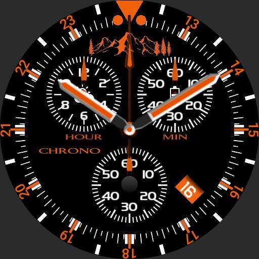 CHRONO Mountains Orange Copy