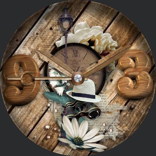 Floral Wooden