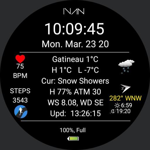 IVAN - Weather Info Dial V 3.1