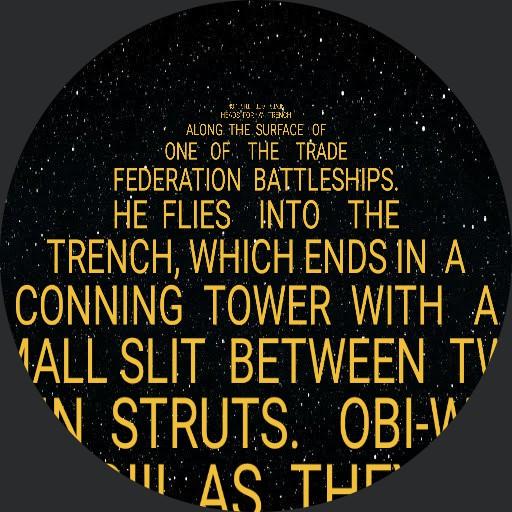 Star Wars Prequels Crawl