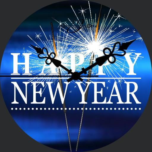 Happy New Year Blueline Animation
