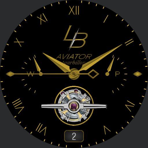 Aviator Tourbillon Silver/Gold - L.B.