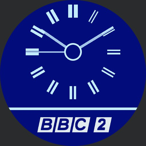 BBC2 blue elec clock