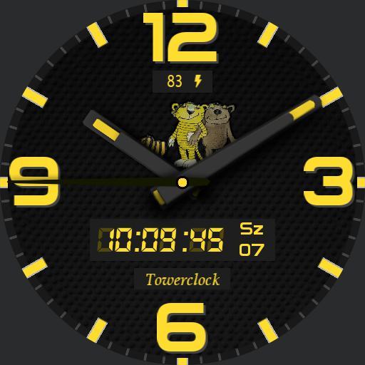 Towerclock yellow kistigris kismaci