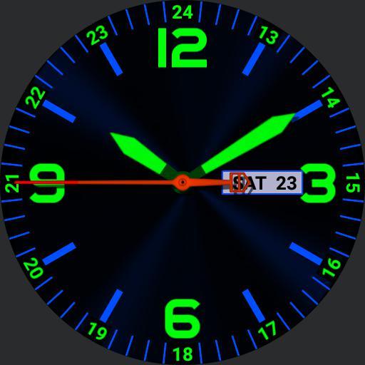Blue  Green High Viz