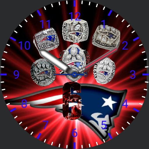 6 Rings Patriots Watchface