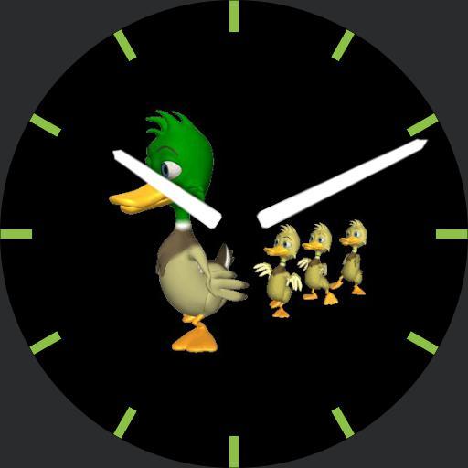 Ducklings Clock