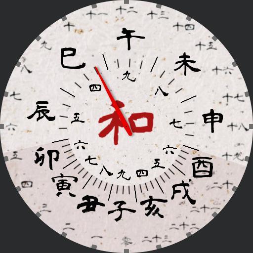 Classic Japanese watch kanji