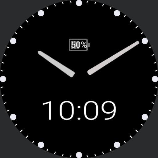 my clock white